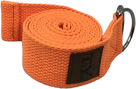 Tiiyar Yoga Strap/Yoga Belt - 183cm Stretch Strap for Yoga Practice, Pilates Exercise, Yoga Guide E-Book Included