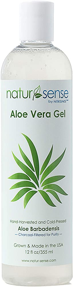 Organic Aloe Vera Gel Great for Face, Hair, Sunburn Relief, Dry Winter Skin, Acne, Razor Bumps, Psoriasis, Eczema - 12 oz.
