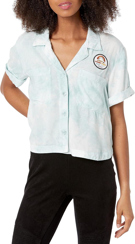 Volcom Women's Outer Banks X Netflix OBX Sarah Short Sleeve Woven Shirt