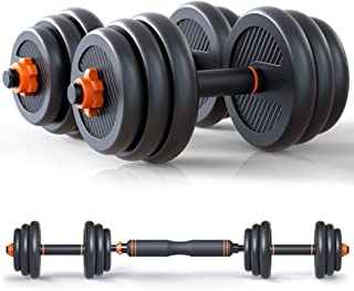 Weights Dumbbells Barbell Set – Adjustable Dumbbell Set – Weight Sets for Home Gym – Includes Connecting Rod – Anti-Slip P...
