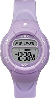 Kids Digital Watch - Girls Watches Ages 7-10 - Gifts for 7 Year Old Girl - Gifts for Preteen Girls - Kids Sports Watch - Girls Digital Watch - Kids Silicone Watch - Fila Watch Puple