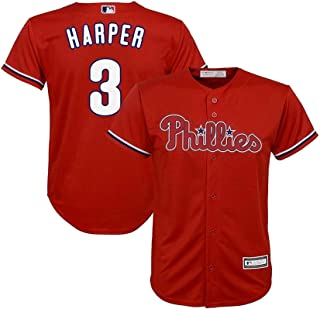 Bryce Harper Philadelphia Phillies #3 Red Youth Cool Base Alternate Jersey