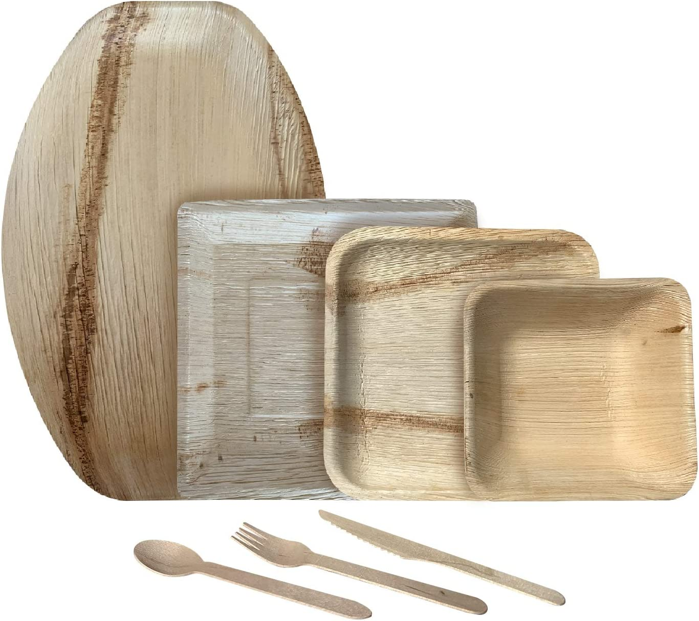 公式通販 Bio Mart - Areca Palm Leaf and 8-Inch Dinnerware Square 春の新作シューズ満載 with Set