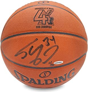 9222fbaaa2c SHAQUILLE O'NEAL Signed 4X NBA Champion Engraved Replica Basketball LE of  50 UDA.