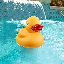 Jershal Dispensador de Productos químicos para Piscina - Dispensador de Productos químicos Flotante de Gran Capacidad para Piscina Cute Duck Cartoon