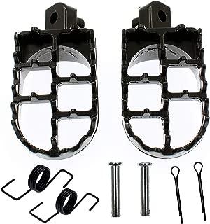 QAZAKY Black Aluminium Foot Pegs Rest Footrest Footpegs Replacement for XR50R XR70R XR80R XR100R CRF50 CRF50F CRF70 CRF70F CRF80 KLX110 Motocross 50cc 70cc 90cc 110cc 125cc Dirt Bike TaoTao Jonway