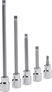 "Genius Tools 308+1760 1/4"" Dr. 1.0 x 6.0mm Slotted Bit Socket, 180Mml"