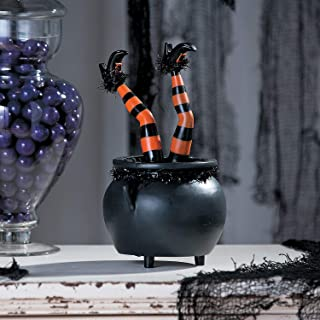 Tabletop Kicking Witch Legs - Animated Halloween Decoration