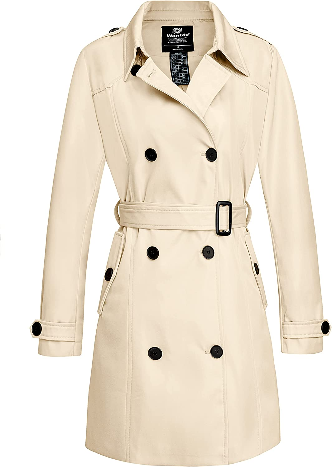 Wantdo Women's Waterproof Opening large release sale Double-Breasted Classic Opening large release sale Coat Trench La
