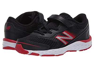 New Balance Kids 680v6 (Infant/Toddler) (Black/Team Red) Boys Shoes