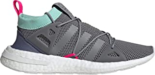 adidas Originals Women's ARKYN Primeknit Boost Shoes (8.5, Grey Three/Clear Mint/Shock Pink)