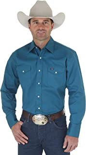 Wrangler Men's Western Work Shirt Washed Finish