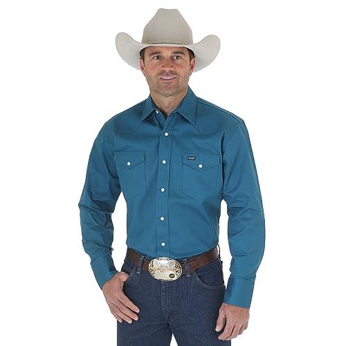 375b9252 Wrangler Men's Western Work Shirt Firm Finish