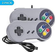 Rii Game Controller, SNES Retro USB Controller, Classic Gamepad Joystick, PC Super Classic Joypad Gamestick for PC, Raspberry Pi, Windows MAC Liunx, Android GP100 (Grey, 2 Packs)