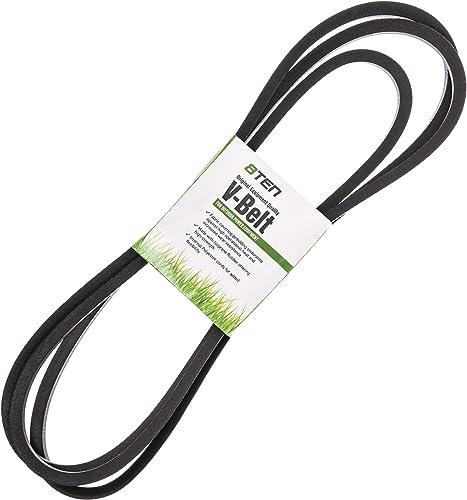 8TEN Deck V-Belt for MTD Cub Cadet White Outdoor 54 inch RZT54 ZT54 ZTL8000 754-04138 954-04138A