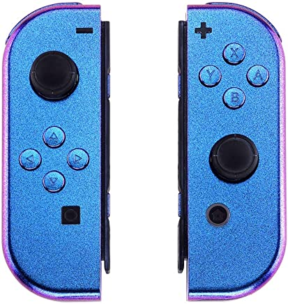 eXtremeRate Chrome Joycon Handheld Controller Housing with Full Set Buttons, DIY Replacement Shell Case for Nintendo Switch Joy-Con - Console Shell NOT Included