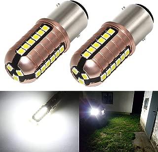 Phinlion 3000 Lumens 1157 LED White Bulb Super Bright 3030 27-SMD BAY15D 7528 2057 2357 LED Bulbs for Back Up Reverse DRL Brake Stop Tail Lights, 6000K Xenon White