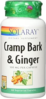 Solaray Cramp & Ginger Bark 500 mg VCapsules, 60 Count