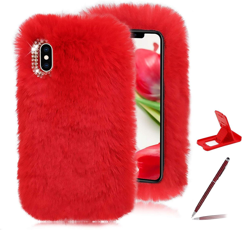 Red Furry Case for Google trend rank 2020 5 Pixel Soft Super sale Pixe