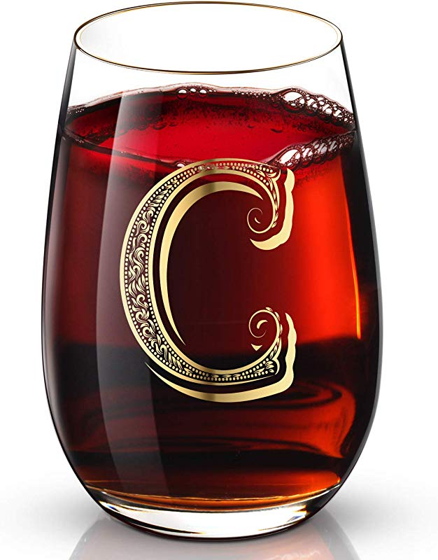 C Customized 24K Gold Hand Crafted Luxury Drinking And Wine Glass For Wedding Anniversary Birthday And Any Noteworthy Occasions Products Also Come With Your Choices Of Special Meaningful Initials