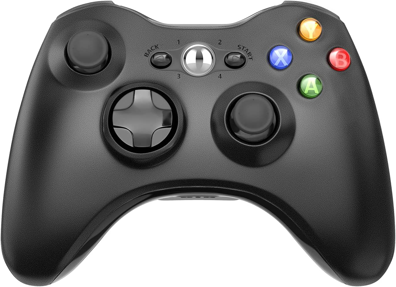 Wireless Controller for Xbox 360, Astarry 2.4GHZ Game Controller Gamepad Joystick for Xbox & Slim 360 PC Windows 7, 8, 10 (Black)