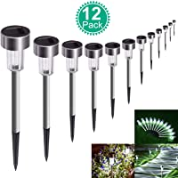 12 Pack SUNNEST Waterproof Outdoor Solar Garden Lights