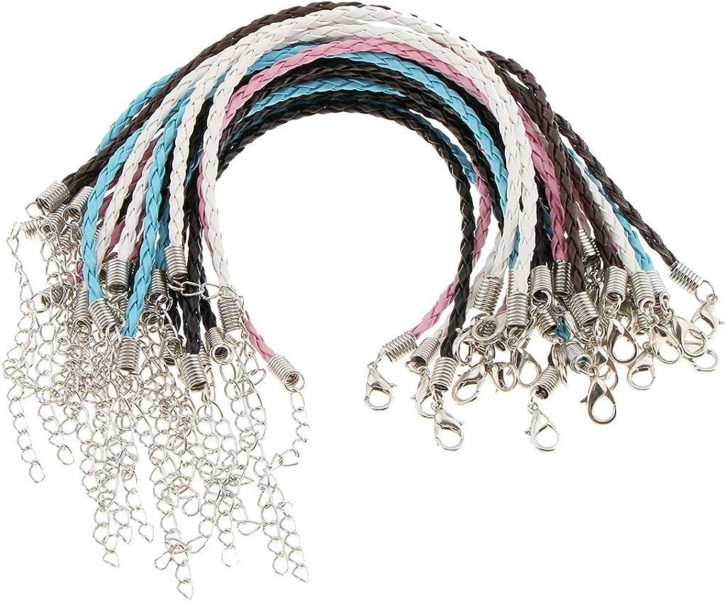 Bonarty 25Pcs String Cuff Bracelet DIY Handmade Woven Rope Lucky Fortunate Jewellery
