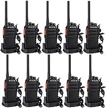 Retevis RT24 Plus Walkie Talkie recargable PMR 446 Radio bidireccional sin licencia 16 canales VOX Cargador USB universal Walkie profesional con auriculares (5 pares)