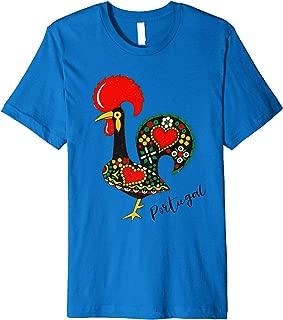 Galo de Barcelos Portugal Portuguese Rooster Design Premium T-Shirt