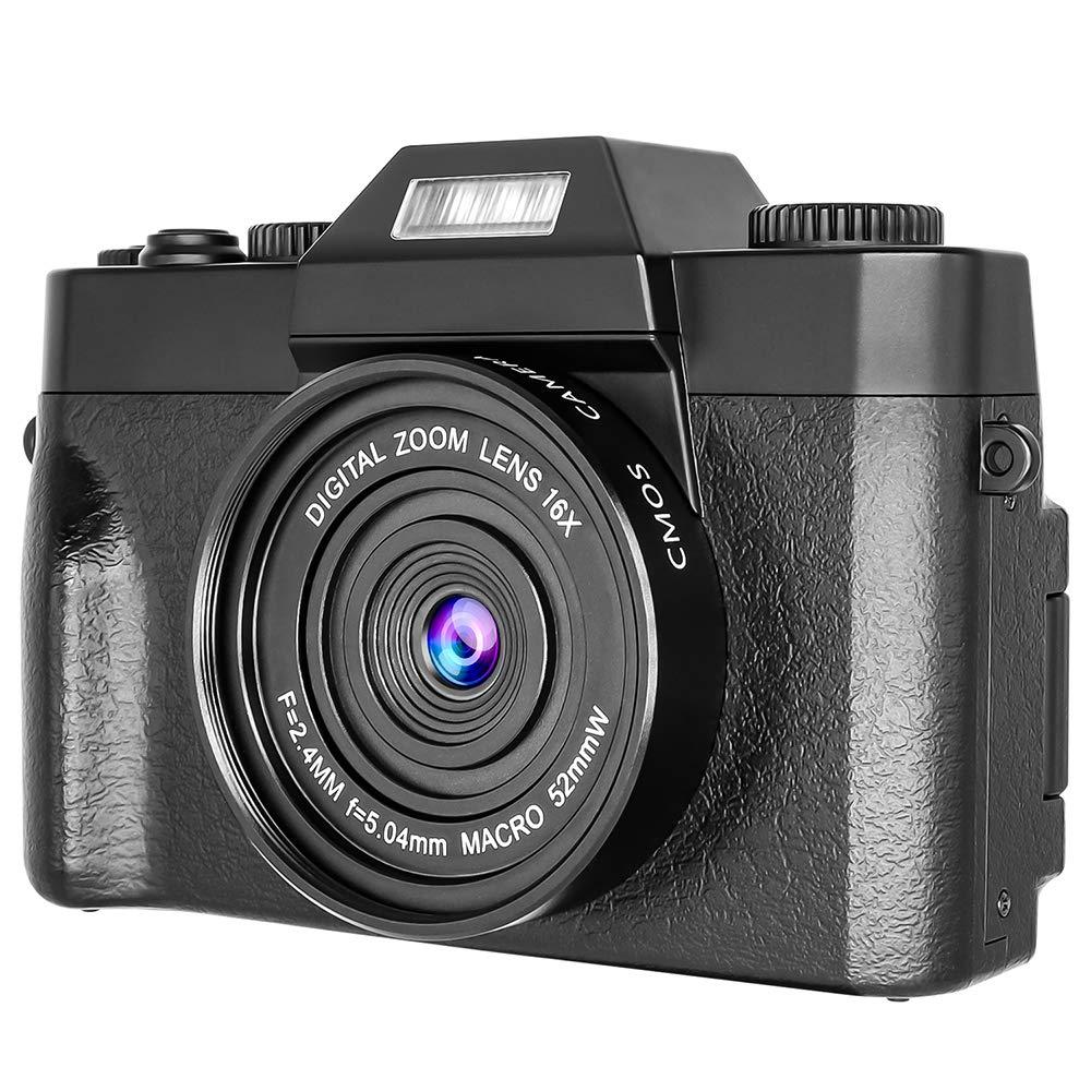 Digital Camera Vlogging Camera Video Camera 2.7K 30MP 16x Digital Zoom 3 Inch 180/° Flip Screen Compact Digital Cameras Cameras for Beginners
