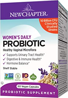 New Chapter Probiotics for Women, 60ct, 2 Month Supply, Women's Daily Probiotic with Prebiotics and Probiotics + 100% Vega...