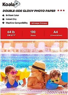 KOALA Papel fotográfico de doble cara brillante para inyección de tinta A4 210x297 mm 100 hojas 240 g/m²