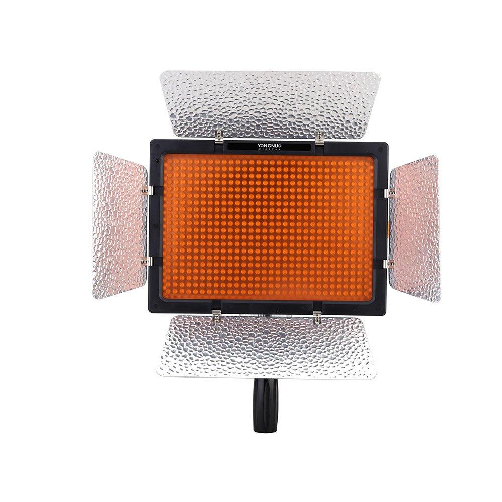 Color Negro L/ámpara LED para iluminaci/ón fotogr/áfica 4680 LM, 5500k Yongnuo YN600L