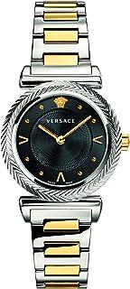 Versace V- Motif Quartz Black Dial Ladies Watch VERE00518