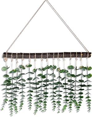 Artificial Eucalyptus Wall Decor - Wall Hanging Fake Eucalyptus Leaves Greenery Plant, Farmhouse Country Boho Eucalyptus Deco