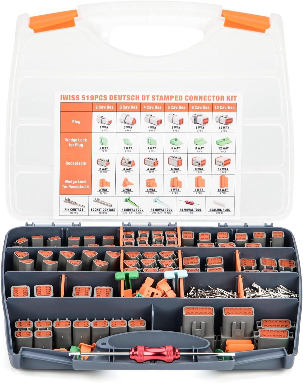 IWISS DEUTSCH DT Connector Kit in 2,3,4,6,8,12 Pin Configuration