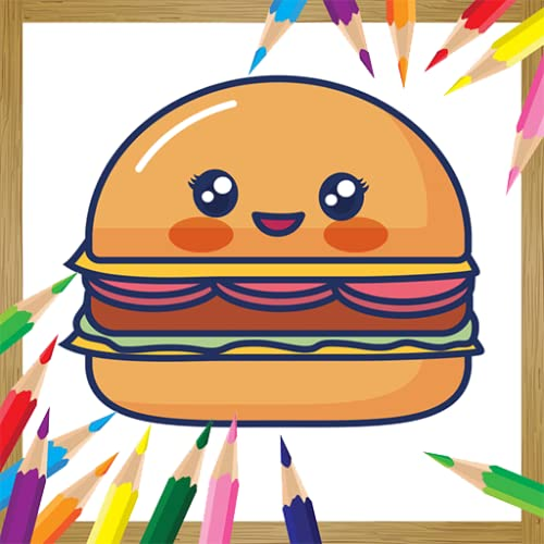 Cute Kawaii Coloring Book Food