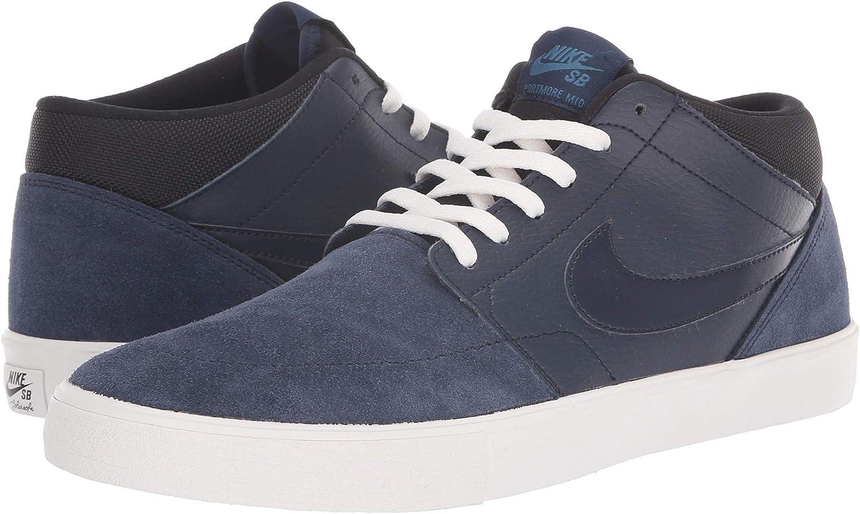 Nike 923198-401  Mens Obsidian Phan bluee FRC SB Solarsoft Portmore 2 Mid Sneaker
