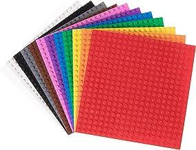 Strictly Briks - Pack de 12 Bases para Construir - Compatibles con Todas Las Grandes Marcas - 15,24 x 15,24 cm - Verde, Azul, Transparente, marrón, Gris y más