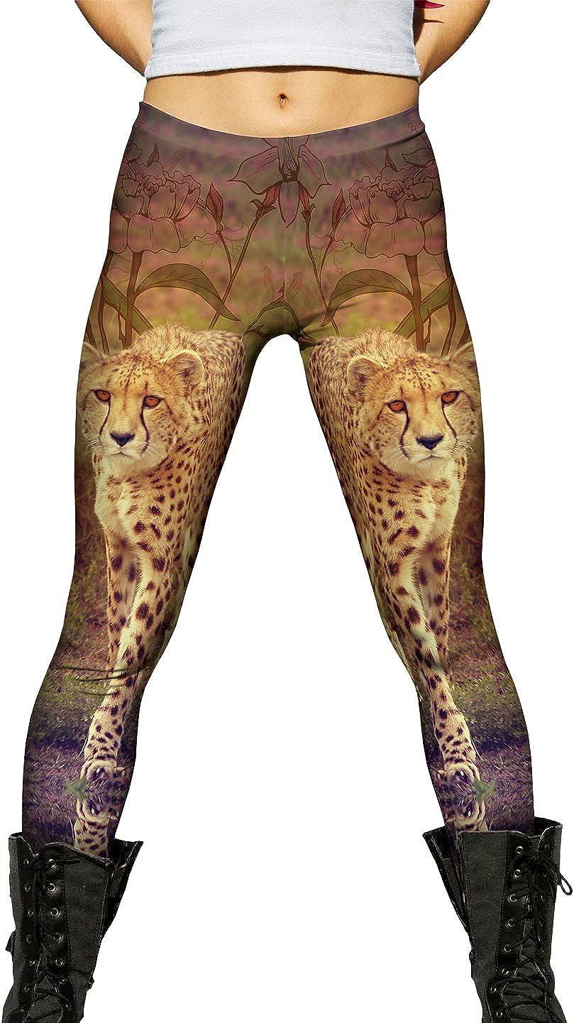 Yizzam- Flower Cheetah Ranking TOP10 -New Ladies Super sale Womens Leggings
