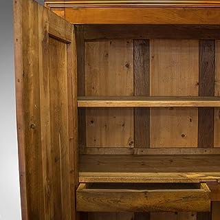 Presse à linge ancien, français, châtaignier, armoire, penderie, circa 1850