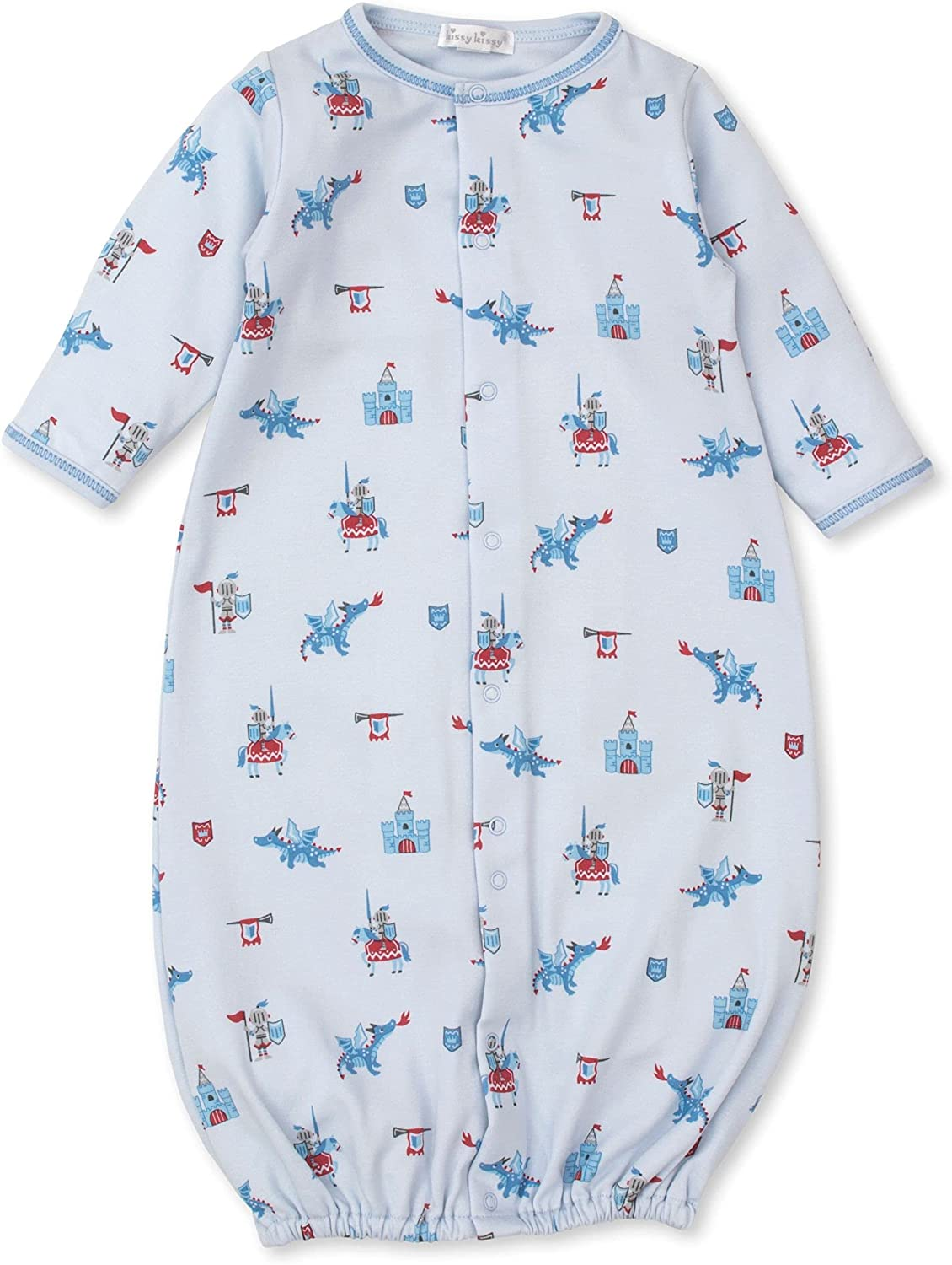 Kissy Kissy Baby-Boys Infant Mighty Dragons Print Convertible Gown