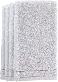 Creative Scents Cotton Fingertip Towels Set - 4 Pack - 11 x 18 Inches Decorative Small Extra-Absorbent and Soft Terry Towel for Bathroom - Powder Room, Guest and Housewarming Gift (White)