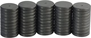 MagStrength 50 Piece Round Ceramic Disc Magnets for Bottle Cap Magnets, Arts and Crafts and Science Projects