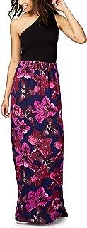 Womens Mixed Media Maxi Dress