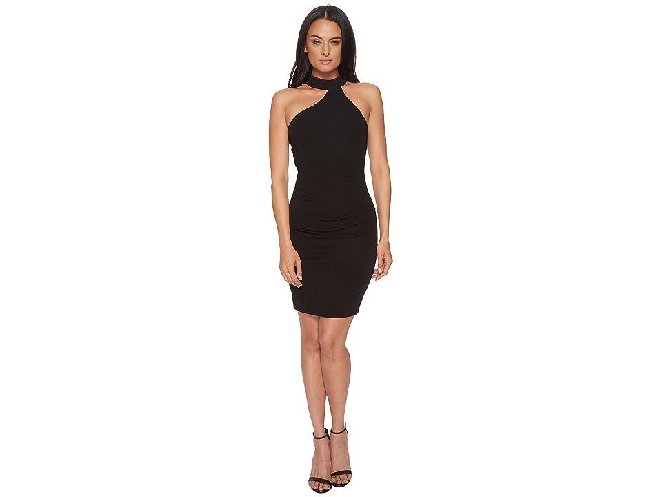 Nicole Miller Mock Neck Dress (Black) Women