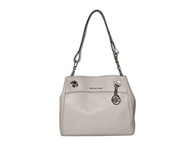 MICHAEL Michael Kors Jet Set Chain Legacy Medium Convertible Shoulder (Pearl Grey) Shoulder Handbags