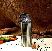 Claybotik Handmade- Hand Carved Ceramic Oil Bottle