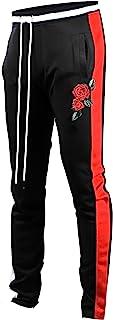 Screenshotbrand Mens Hip Hop Premium Slim Fit Track Pants - Athletic Jogger Bottom with Side Taping