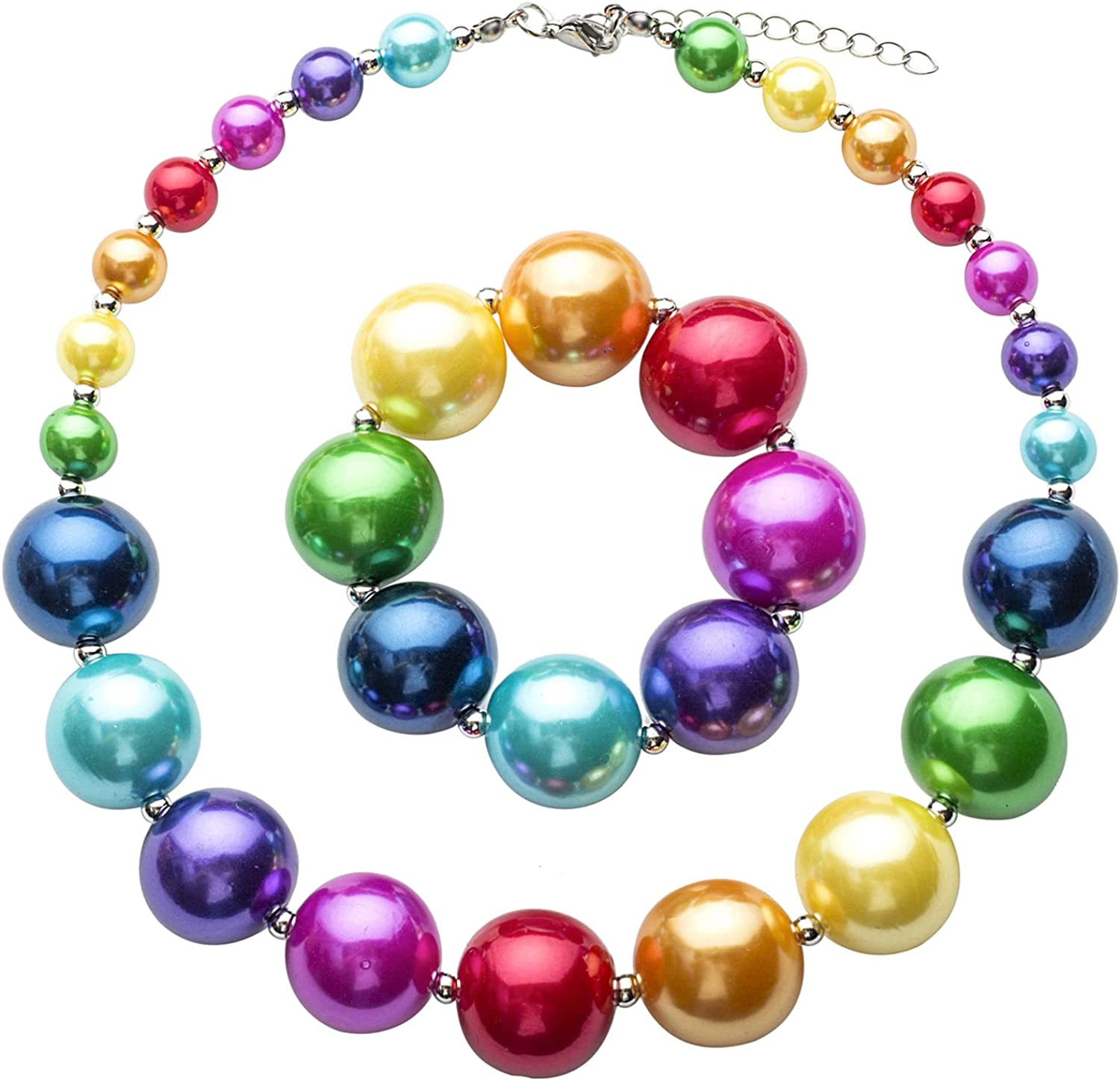 Max 45% OFF Chunky Directly managed store Bubblegum Necklace Merry Beads Fashion Christmas